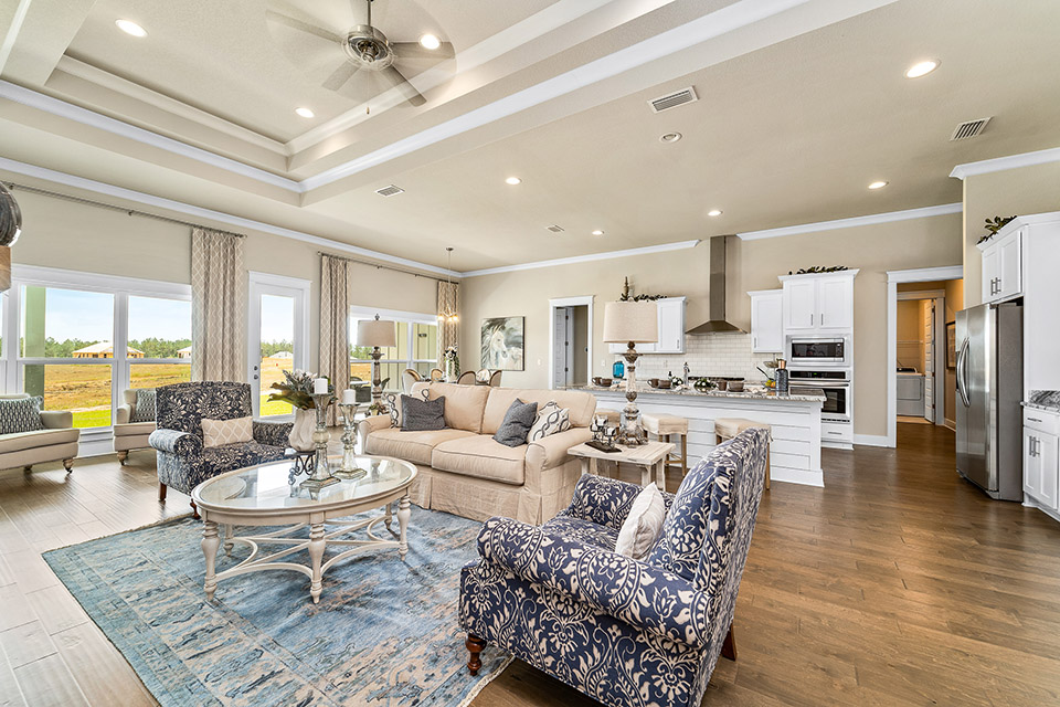 Open floor plan living