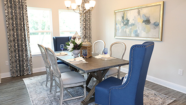 Dining Room with Blue Chair thumb