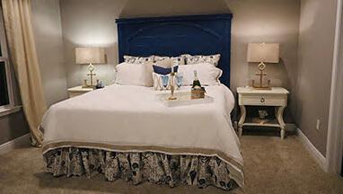 Thumbnail image of Dark blue headboard bedroom suite